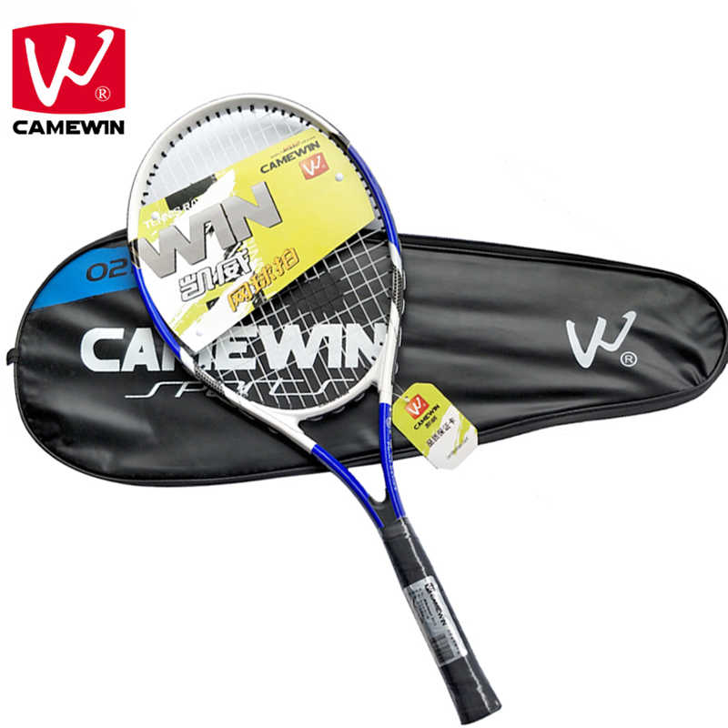 CAMEWIN Brand 1 Pair High Quality Carbon Fiber Tennis Racket for Men and Women tenis masculino raquete de tenis With Bag