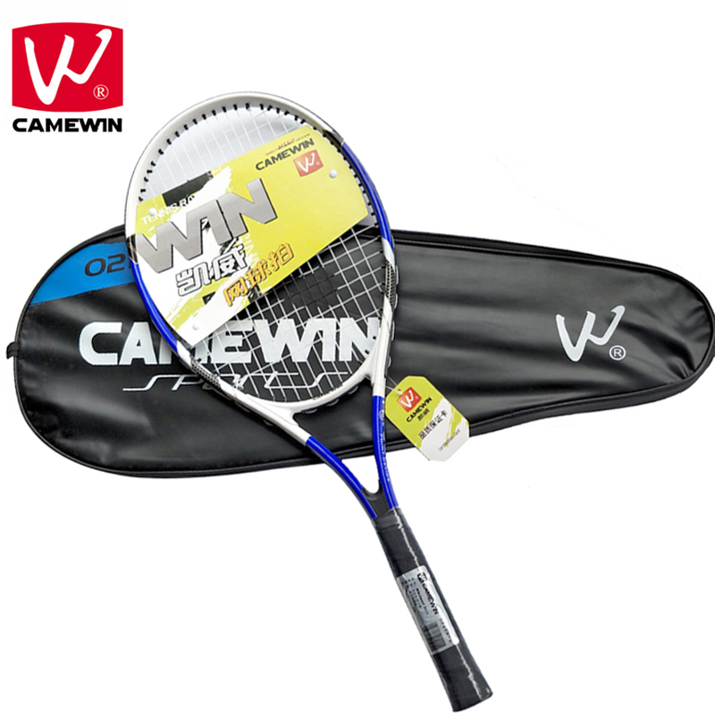 CAMEWIN Brand 1 Pair High Quality Carbon Fiber Tennis Racket for Men and Women tenis masculino raquete de tenis With Bag high quality 1 pair right