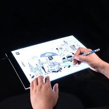 Ultrathin A4 Quality Pratical 4mm Drawing Copy Board Animation Copy Tracing Pad Board LED Light Box