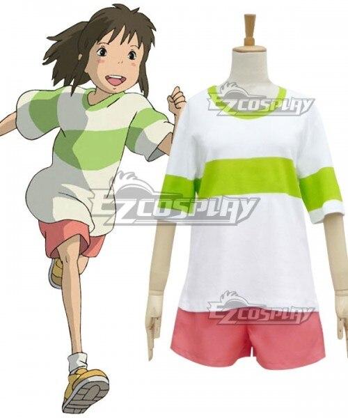 Anime Miyazaki Hayao Spirited Away Chihiro Ogino Sen Cosplay Costume Halloween