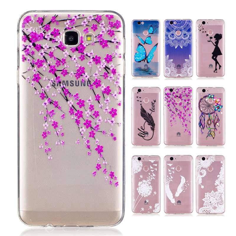 quite nice bf54e e0ab8 For Samsung Galaxy J5 Prime phone case cartoon girl flower dandelion  butterfly wolf soft skin back smartphone cover,new on Aliexpress.com |  Alibaba ...