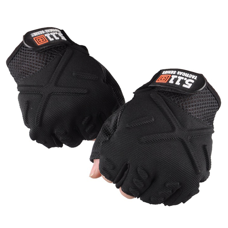 Non-Slip Gel Half-finger Gloves for Women & Mens Outdoor Sports Badminton Fitness Mountaineering Bike Bicycle Riding Fingerless