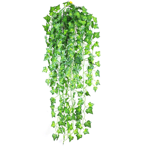 210cm Artificial Green Plants Hanging Ivy Leaves Radish Seaweed Grape Fake Flowers Vine Home Garden party christmas decorations