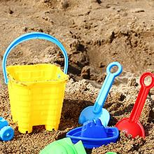 Мягкие Детские песчаные пляжные игрушки для детей, для игр на открытом воздухе и развлечений, ведро для замка, лопата, песочница, грабли, водные инструменты, набор
