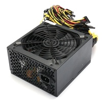 Professional 1600W Mining ATX Power Supply SATA IDE For 6 GPU ETH BTC Ethereum New US