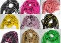 EMS grátis 100% novo lenços de seda Cachecol Moda Crânio Cachecóis Xailes com tag Do Presente Best Selling 20 pçs/lote