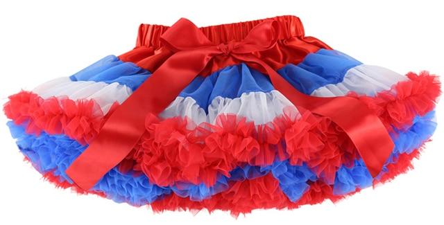 Sale Saias Wennikids New Arrival Fluffy Chiffon Tutus For Girls Baby Tutu Pettiskirt 4th July Design 1-10t Girl Retail
