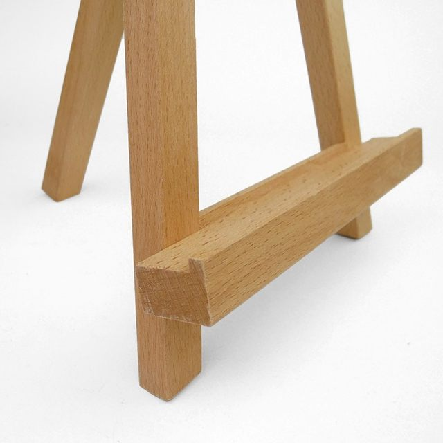 Mini Beech Wooden Easel For Painting Sketching Small Tabletop Tripod  Display Show Photo Frame Easel Stand 19*12.6*28cm Desktop