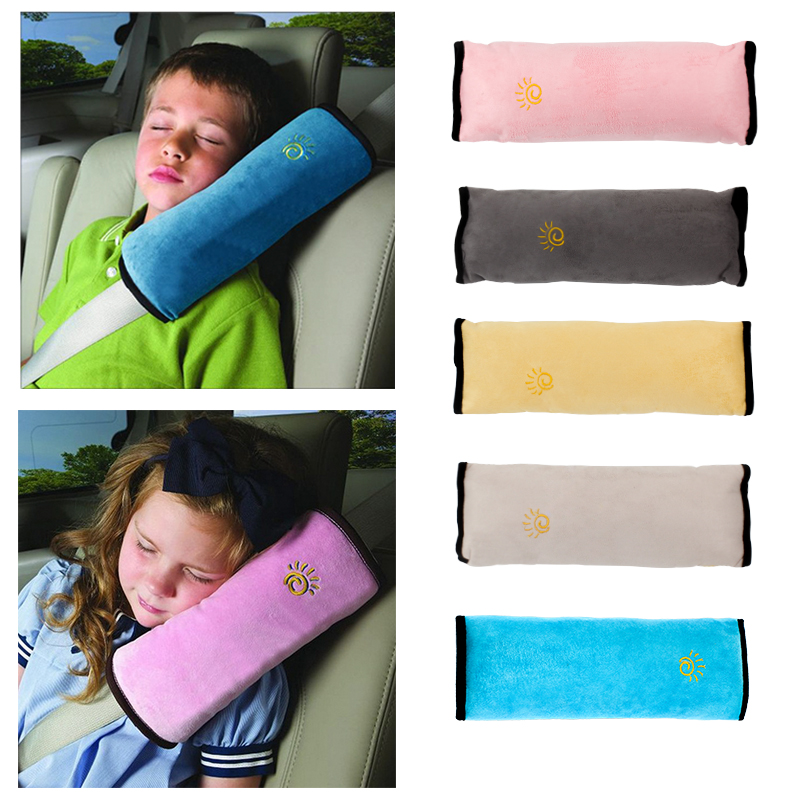 baby pillow kids shoulder pad cover car auto safety seat belt harness children head protection covers
