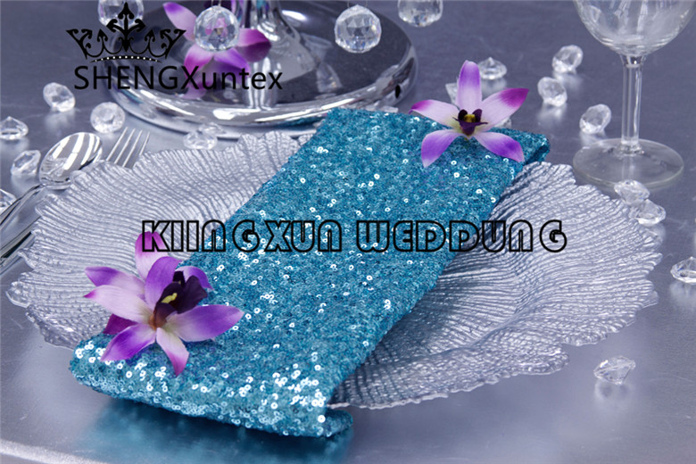 Good Looking 40CM*40CM Sequin Table Napkin For Wedding Event Table Cloth Decoration Free Shipping