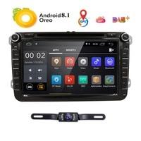 Android 8,1 dvd плеер автомобиля стерео радио GPS для Фольксваген Skoda Golf 5 Golf 6 поло PASSAT B5 B6 Jetta Tiguan 2 din OBD2 DAB +