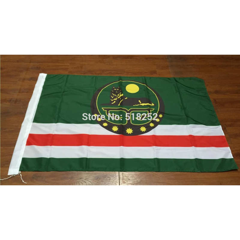 Flag of the Chechen Republic with coat different size free shipping NEW !