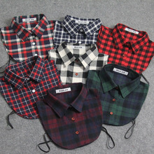 2016 New Arrival Fake Collar Claasic Plaid All Matching Detachable Shirt Collars adult unisex