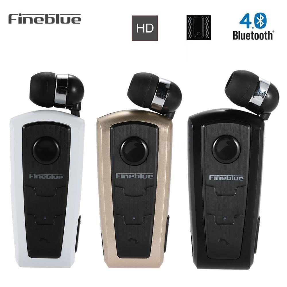 FineBlue F910 Wireless Bluetooth Earphone In-Ear Call Remind Headset With Collar Clip For IPhone Samsung Driving Handfree wireless bluetooth earphone fineblue f sx2 calls remind vibration headset with car charger for iphone samsung handfree call