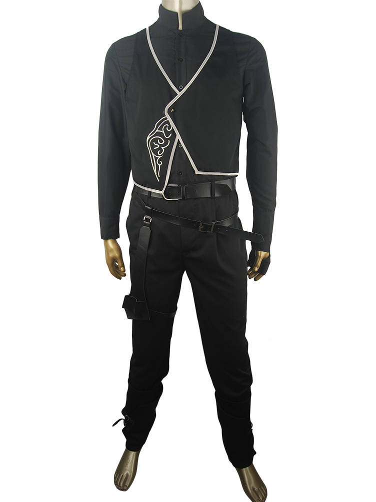 Dishonored 2 Corvo Attano Bodyguard Costume Halloweeen Cosplay Costume Vest Shirt Pants  Christmas Xmas Gift Outfit Mens