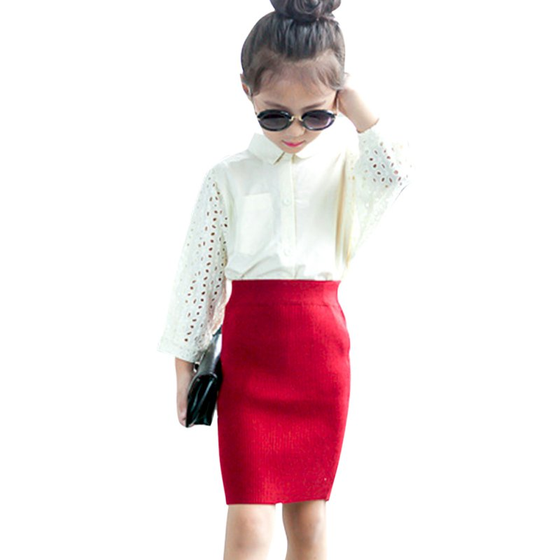 Kids Girls Kids Elastic Waist Skirts Solid Autumn A Line Skater Knit Mini  Skirt(China - Compare Prices On Girls Skirt Pattern- Online Shopping/Buy Low