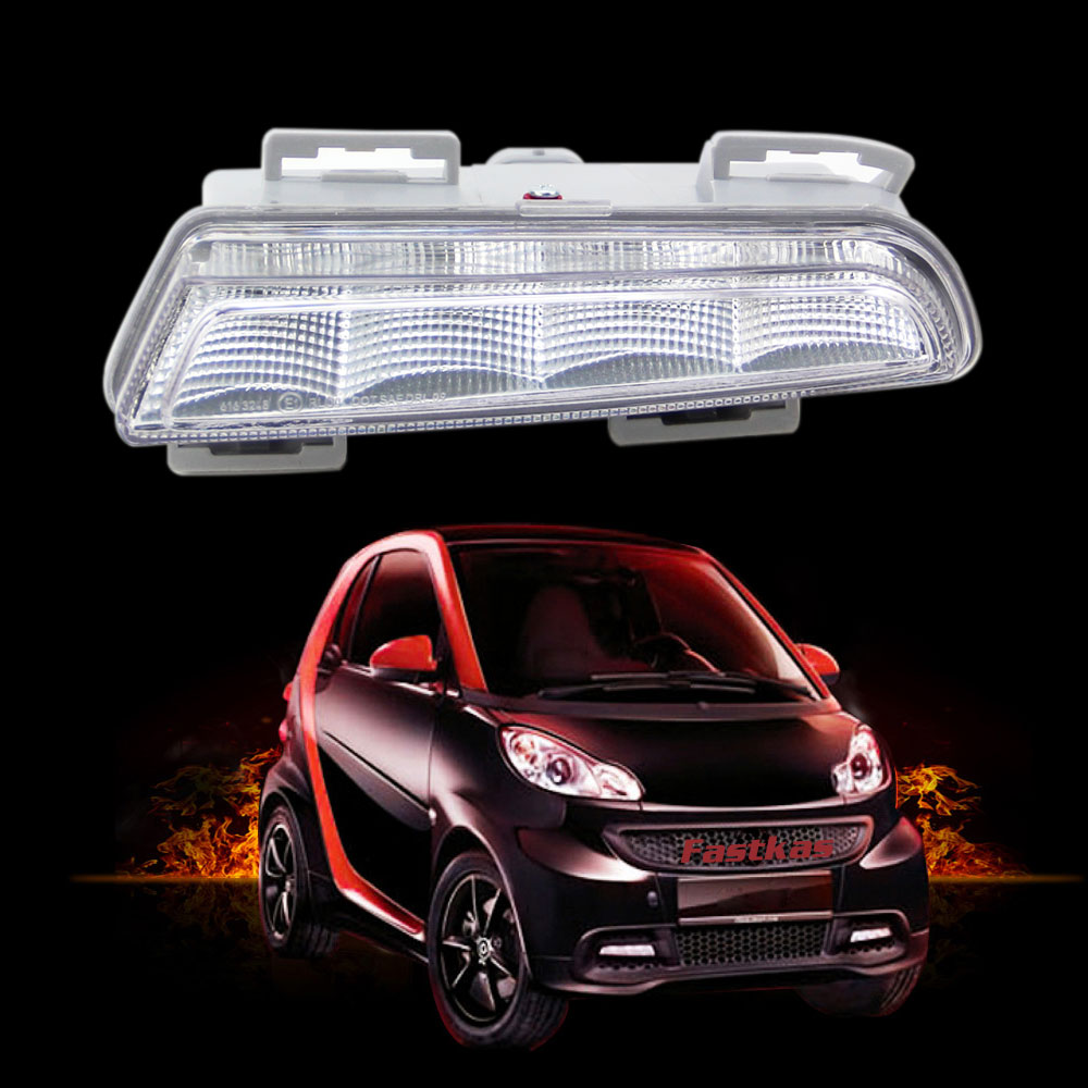 12v DRL Daytime Running Lights For Mercedes Benz Smart fortwo 2011 2012 2013 LED Daylight Signal lamp with or without Grill auto fuel filter 163 477 0201 163 477 0701 for mercedes benz