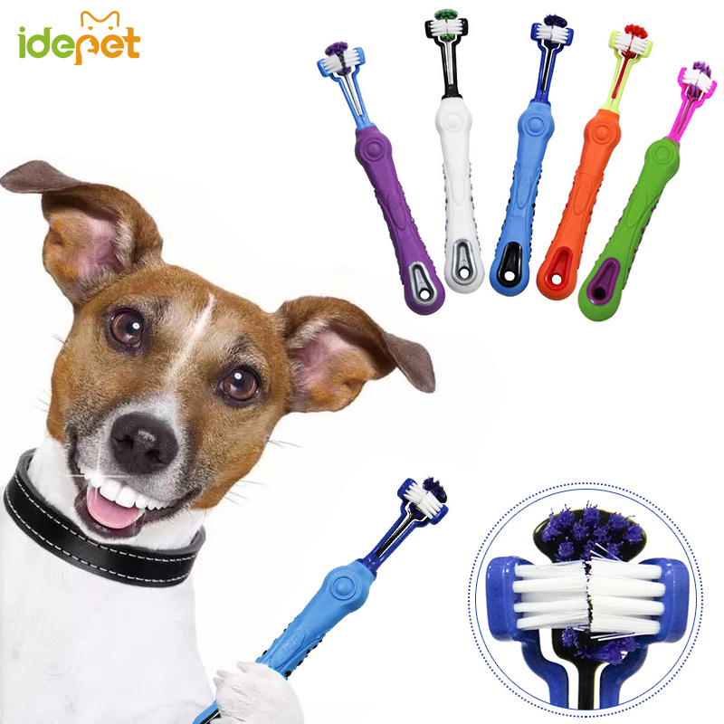 Pet Toothbrush Dog Brush Bad Breath Tartar Teeth Care Tool Dog Cat Cleaning Mouth Non-slip Handle Perfect Teeth Care Products 30