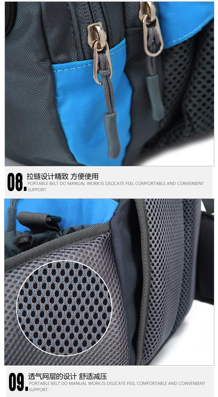 Men Women Sport Waist Bag Pack Backpack With Bottle Holder Outdoor Exploration Travel Casual Cycling Gym Storage Bag Packs (23)