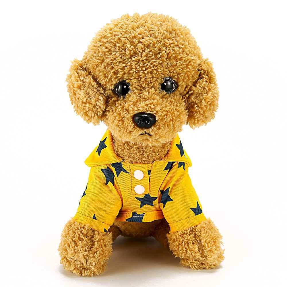 Футболка Поло для домашних животных Одежда для маленьких собак однотонная хлопковая летняя одежда для собак Жилет для щенков Померанская рубашка товары для кошек XLB001