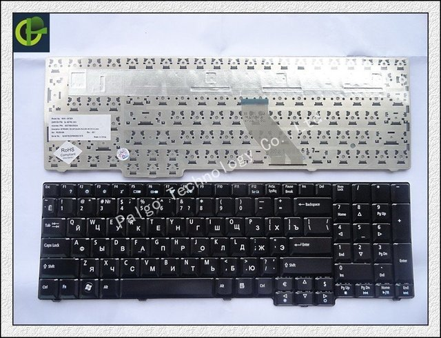 Russian Keyboard for Acer Extensa 5235 5635 5632 5635G 5635Z 7320 7330 7220 7220Z 7230 7230E 7620 7620G 7620Z RU Black