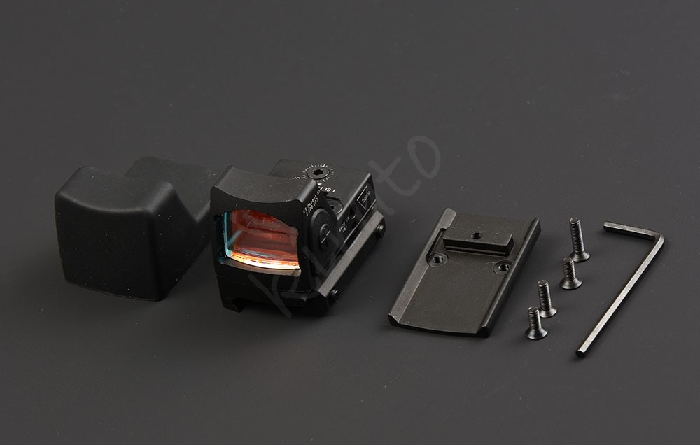Tactical trijicon rmr style 1x red dot sight scope for picatinny rail and glock base mount Key switch BK M6293