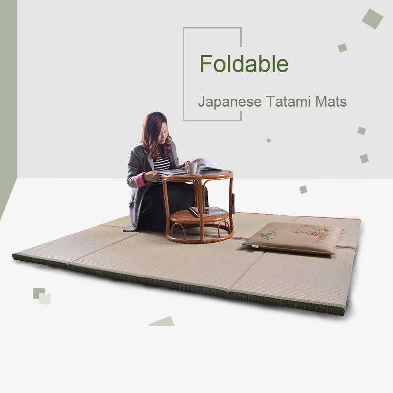 90x200x3cm Japanese Tatami Mats Natural Rushes Tatami Mat Carpet Comfortable Fragrance Thicker Tatami Sleeping Mat