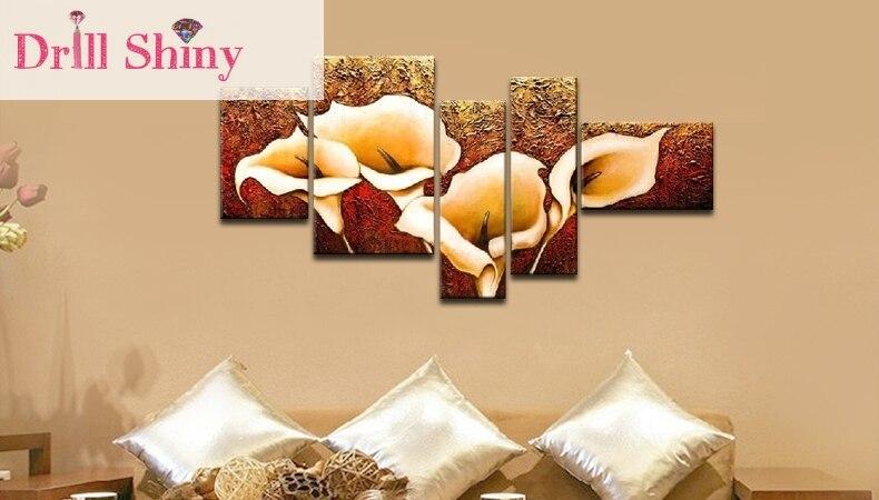 5D DIY квадратный горный хрусталь алмазная живопись цветочные картины комбинированная Вышивка Рукоделие 3D вышивка крестиком Наклейка на сте...