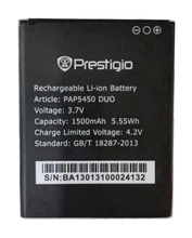 PAP5450 1500mah High Quality Mobile Phone Replacement Li-ion Battery for Prestigio