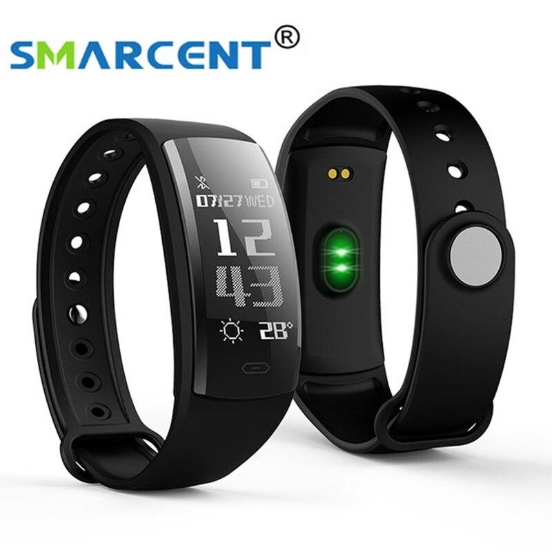 QS90 SMARCENT Pulseira Inteligente Pressão Arterial e Freqüência Cardíaca Monitor de Oxigênio No Sangue Monitor de Rastreador De Fitness para Andriod IOS VS QS80 IP67