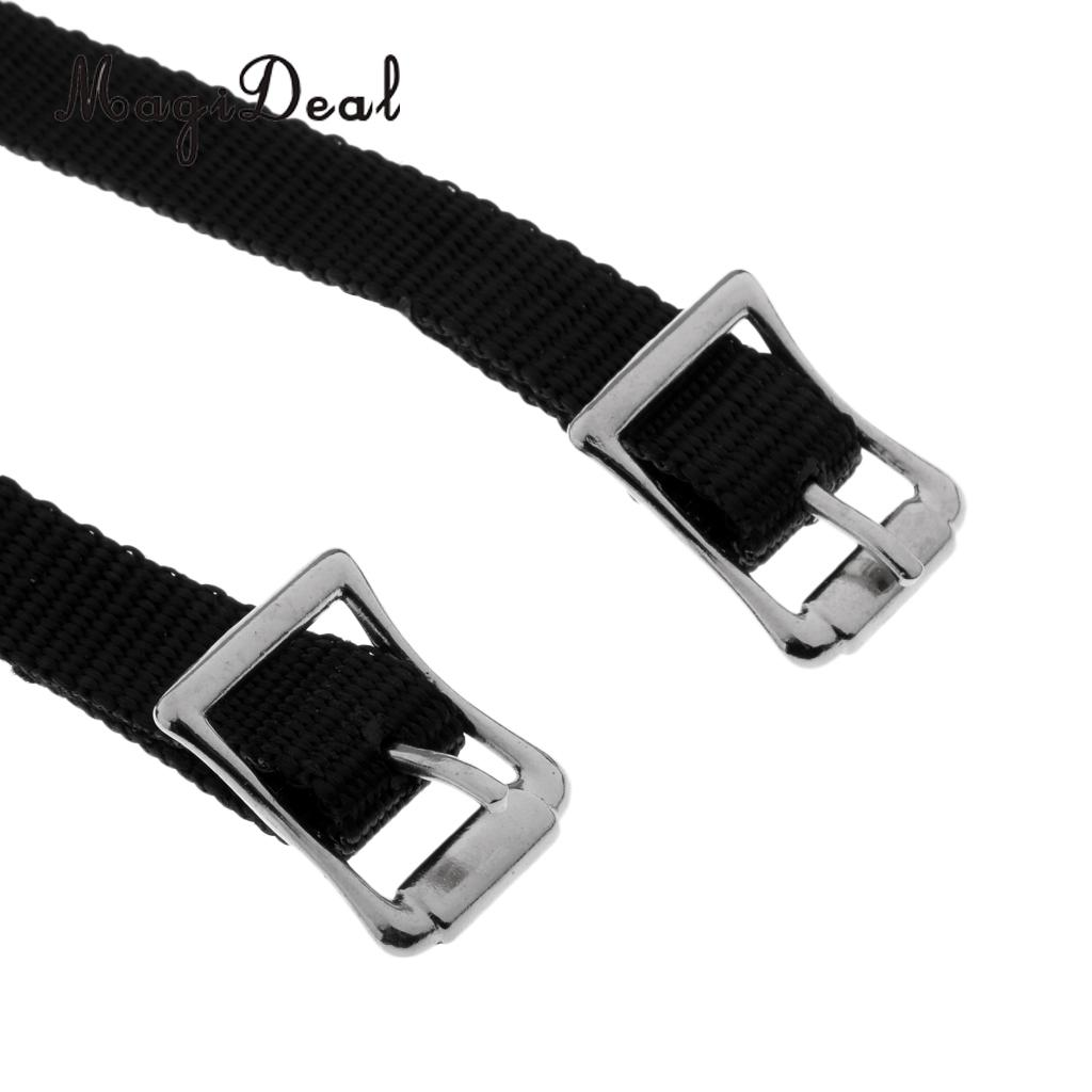 MagiDeal Thickened Weaved English Spurs Straps Horse Riding Equestrian Accessories
