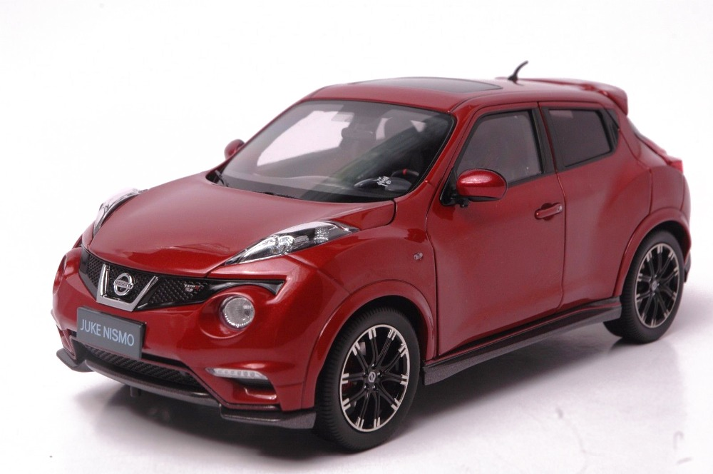 1:18 Diecast Model for Nissan Juke Nismo RS 2014 Red (White Box) Alloy Toy Car maisto bburago 1 18 fiat 500l retro classic car diecast model car toy new in box free shipping 12035