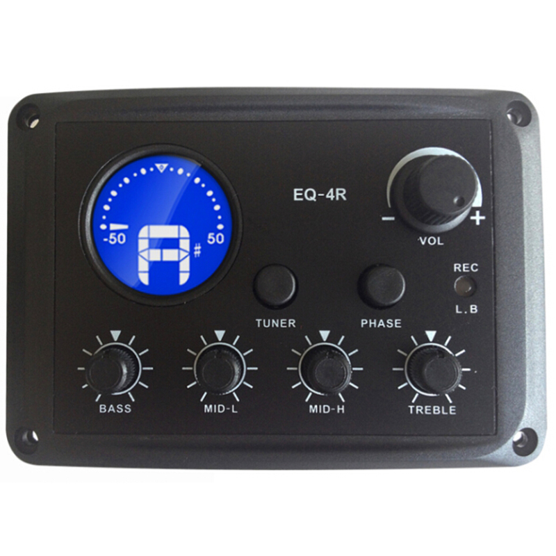 SUERTE New Arrival 4Band EQ With LCD Tuner Chromatic Tuner Four EQ Ranges Super Fast USB Connection Pickup Guitar Accessories