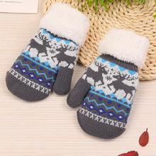 MUQGEW Лидер продаж Молодежный стиль милая девушка Рождество Лось держать теплый вязаный кашемировые перчатки популярные модные теплые перчатки варежки