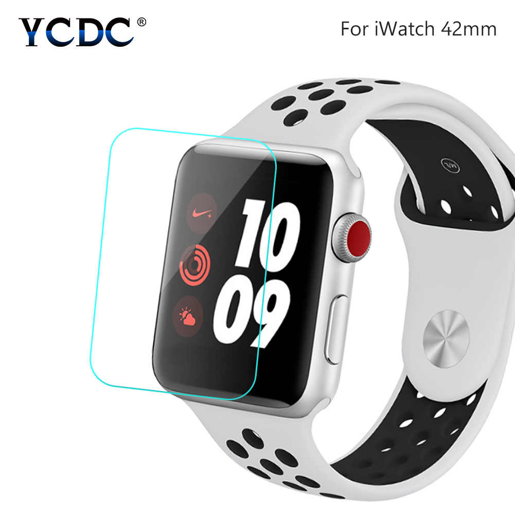 New 0.3mm 2.5D Premium 9H Tempered Glass Smart Watch Screen Protector Protective Film 38/42mm For Apple IWatch Series 1/2/3