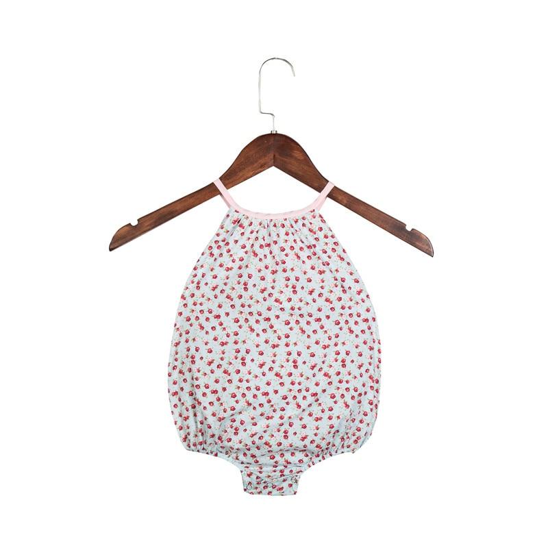 2018 Baby Girl Bubble Romper Ruffles Vintage Floral Prindi Patchwork - Beebiriided - Foto 5
