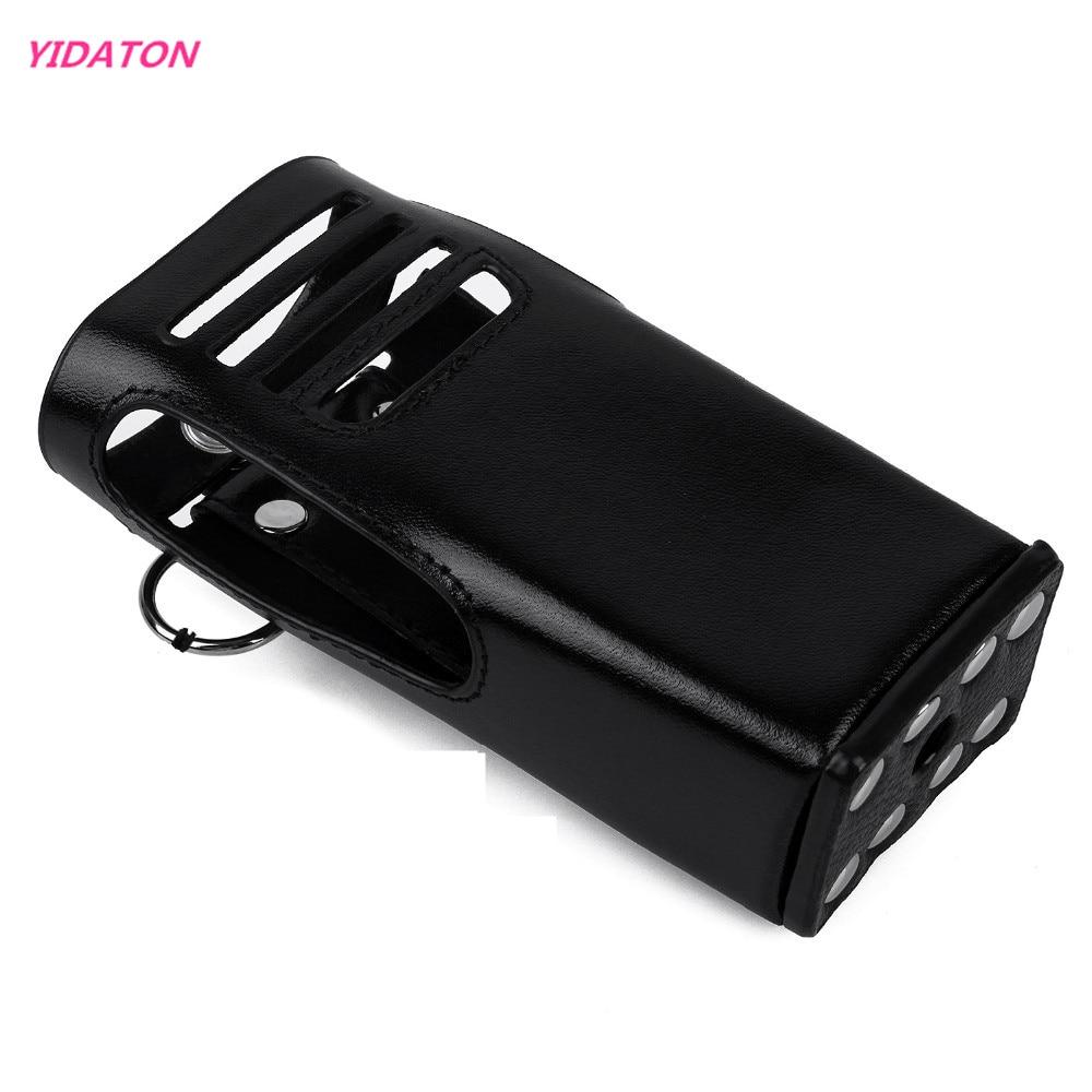YIDATON New Radio Leather Case Holder For Digital Motorola P8200 GP328D Two Way Radio