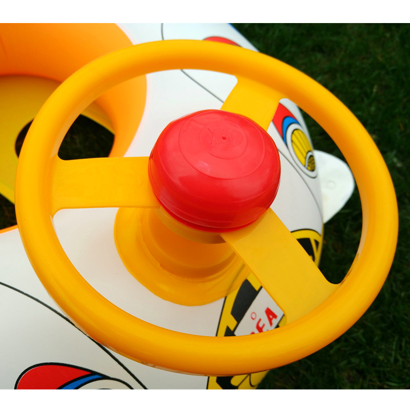 Thicken Children Steering Wheel 110 Car Horn Boat Baby Water Swimming Circle Seat Boat