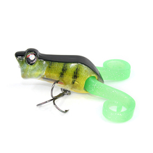 11g 5.5cm 4# Luminous Fishing Lure Popper Frog Simulation Black Fish Carp Baits Long Shot Casting Minnow Bait Fake