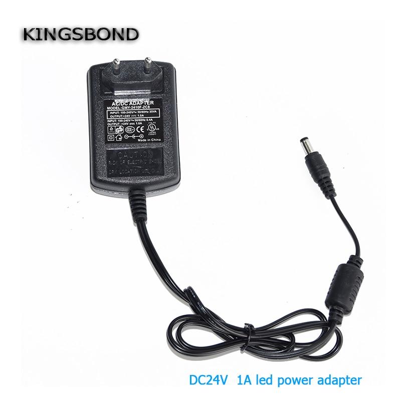 EU Plug Converter DC 24V 1A Server led strip Adapter Power Supply AC to DC Power Adapter AC 100-240V DC power transformer