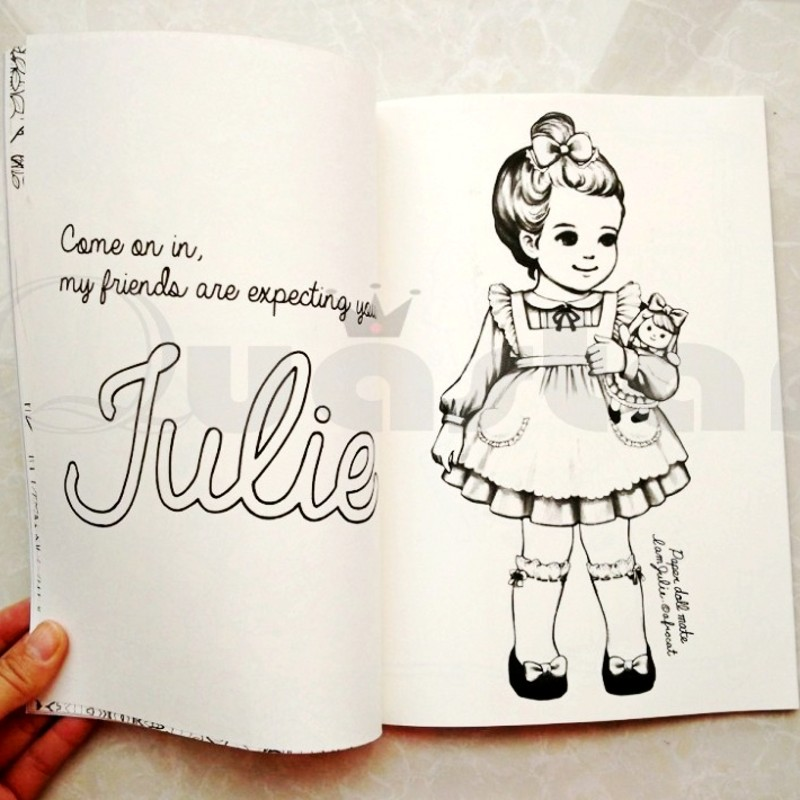Fashion Korean Paper Doll Cute Girl coloring book for adult children ...