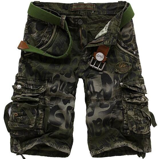 2017 New mens summer military Basketball Short cargo shorts bermuda jeans male fashion outdoor baggy cargo shorts Casual Loose