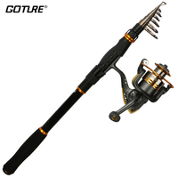 Goture Spinning Rod Combo Sea Carbon Fiber Telescopic Fishing Rod And GT3000S Spinning Reel Set Saltwater