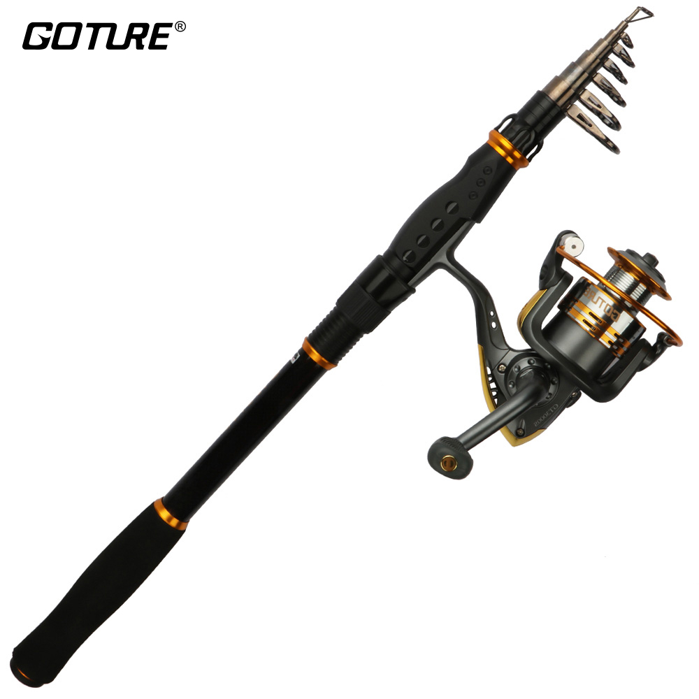 Goture Spinning Rod Combo Sea Carbon Fiber Telescopic Fishing Rod And GT3000S Spinning Reel Set Saltwater Fishing Tackle футболка классическая printio rolling stones' 50th anniversary page 1