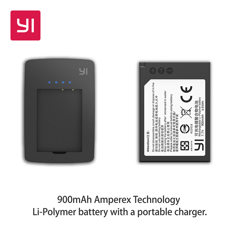 YI M1 Mirrorless Digital Camera Battery and Battery Charger(Cable Excluded)