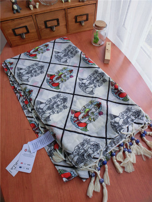 The New Spring And Summer Elephant Statues Colored Beads Fringed Scarves Scarf Shawl Sarong Sunscreen
