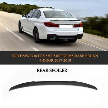 5 Series Carbon Fiber Car Rear Spoiler Lip Wing for BMW G30 G38 530i 540i F90 M5 Sedan 4 Door 2017 2018 Black FRP Car Styling jc 20130709 1