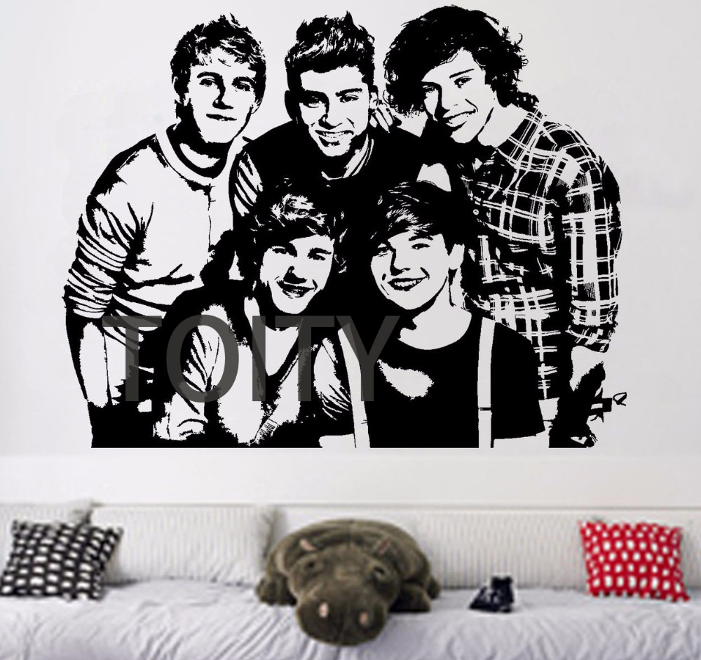 One Direction Wall Poster Sticker English Irish Pop Boy Band 1D Vinyl Decal Decor Bar