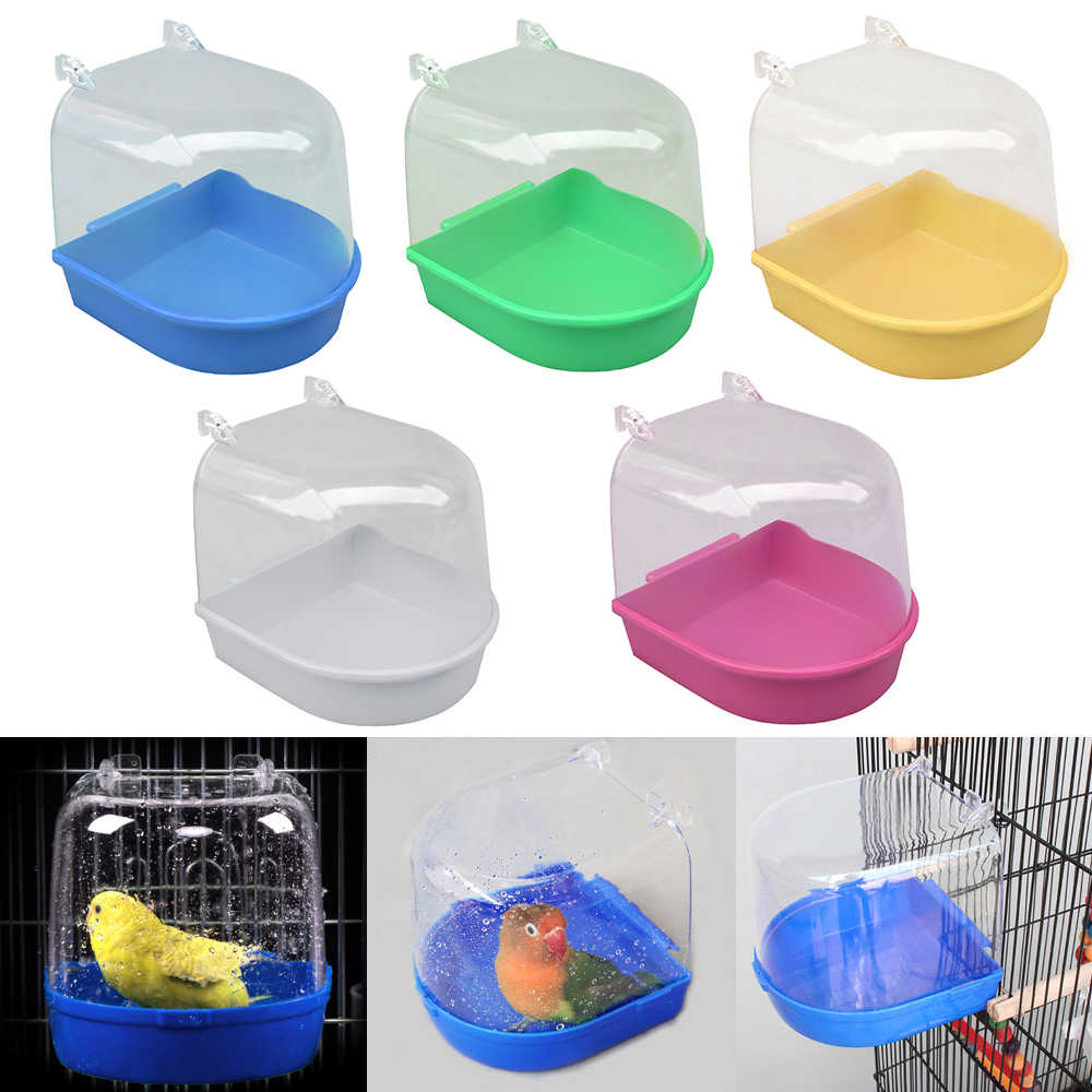 Bird Bathtub Cage Pet Supplies Bird Bath Shower Standing Bin Wash Space Parrot Bird Bathtub Parrot Bathing Supplies