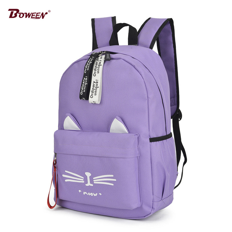 School-Bags Student Bookbag Teenage Girls Women Casual Cartoon Cute Backpack Nylon